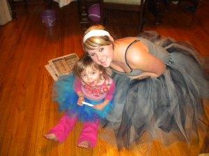 Daughter in tutu